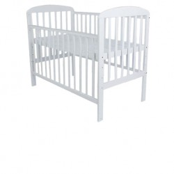 Royalcot R8309 White Large Baby Cot Bed Wooden (White) FREE 100% Natural Coconut Mattress