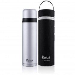 Relax Bottles 750ml 18.8 Stainless Steel Thermal Flask With Free Pouch (White)