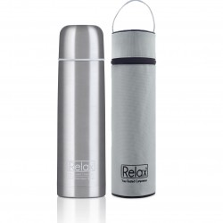 Relax Bottles 1000ml 18.8 Stainless Steel Classic & Signature Thermal Flask With Free Pouch