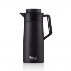 Relax Bottles 2000ml 18.8 Stainless Steel Thermal Carafe (Black)