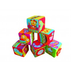 Simple Dimple My 1st Toy 6pcs Block Set Circus Adventures