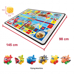 Simple Dimple My 1st Toy - Flying Machines Vinly Toys and Playmat Set