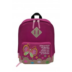 Nick & Nic Foldable Backpack - Butterfly Magenta Pink