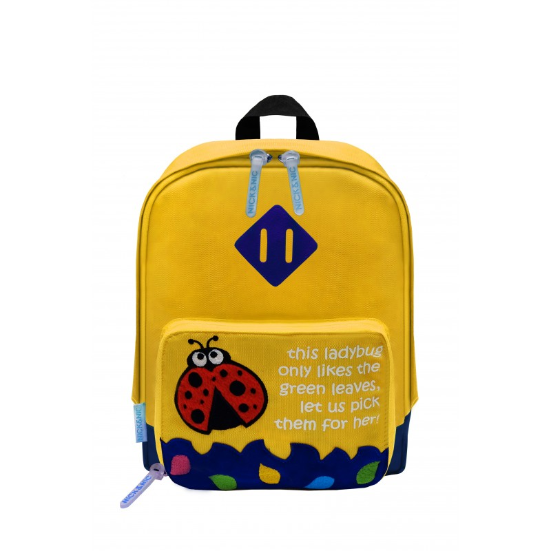 nick nic foldable backpack hoeny yellow ladybird gears. Black Bedroom Furniture Sets. Home Design Ideas