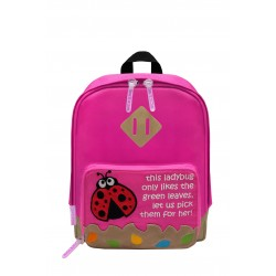 Nick & Nic Foldable Backpack Hot Pink - Ladybird