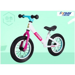 Forever AL 1299 Balance Bike for Children from 2 to 6 FREE Helmet and Protection Guards (White)