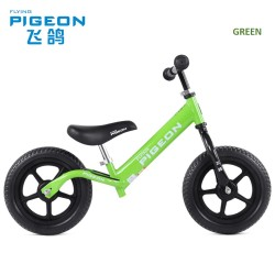 Flying Pigeon AL1208 Balance Bike for Children from 2 to 6 FREE Helmet and Protection Guards (Green)