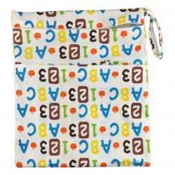 Wetbag with 2 Compartments (Printed)  123, ABC