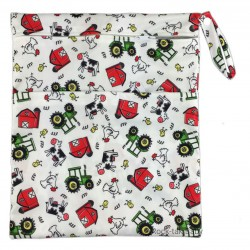 Rocktak Baby Wetbag with 2 Compartments (Printed) Farm