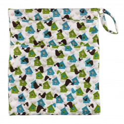 Wetbag with 2 Compartments (Printed) Birdhouses