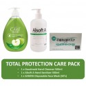 Total Protection Pack (Goodmaid Care Hand Cleanser 5000ml + Saraya Disposable Face Mask 50's + Alsoft A Hand Sanitizer 500ml)