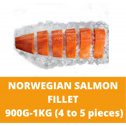 Norwegian Salmon Fillet 0.9-1kg (4 to 5 pieces)