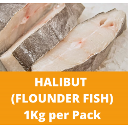 Halibut/Flounder Fish (3 to 4 Pieces per Pack) 1kg per Pack (Sold per Pack)