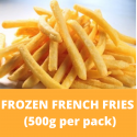Frozen French Fries 500g/pack (Sold per Pack)