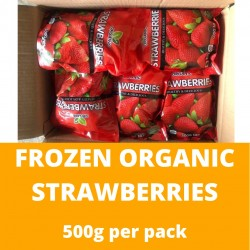 Frozen Organic Strawberries (500g)