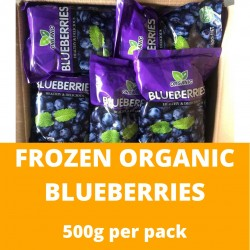 Frozen Organic Blueberies (500g)