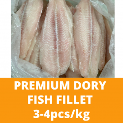 Premium Dory Fish Fillet 1kg (3-4pcs) Frozen Fish Frozen Seafood Ikan Fish and Chips