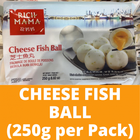 Sungtao Rich Mama Cheese Fish Ball (250g per Pack)