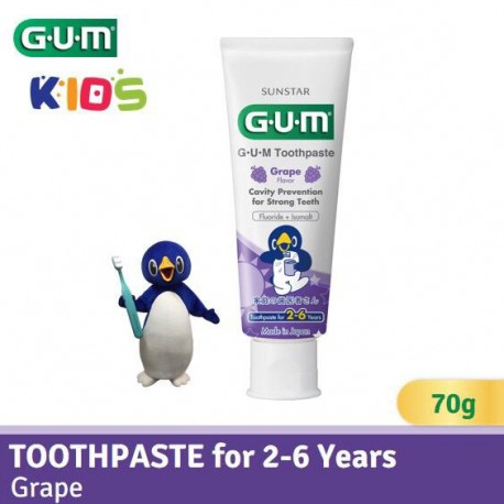GUM Toothpaste for 2-6 Yrs- (Grape Flavor)