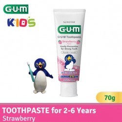 GUM Toothpaste for 2-6 Yrs (Strawberry Flavor)