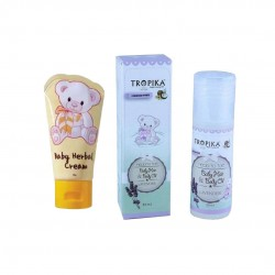 Tropika Baby Herbal Cream 50g  and  Baby Oil Lavender 30ml
