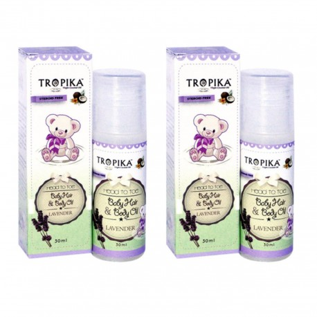 Tropika Baby Hair and Body Oil Aroma Lavender 30ml (2 Boxes)