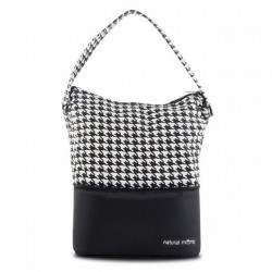 Natural Moms Tote Bag (Houndstooth)