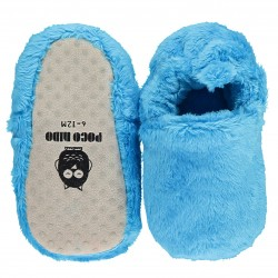 Poco Nido Blue Fluffy Mini Shoes