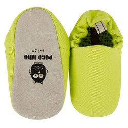 'Poco Nido Chartreuse Green Plain Mini Shoes'