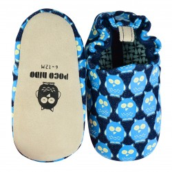 Poco Nido Denim Owls Mini Shoes