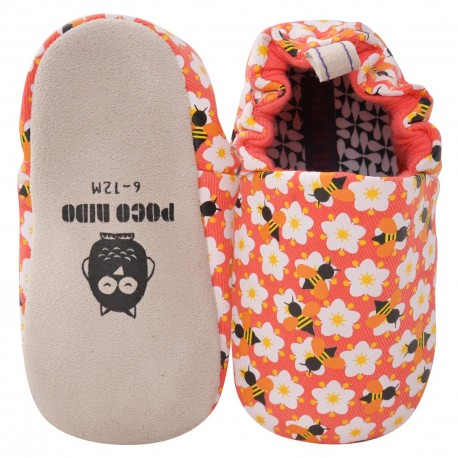 Poco Nido Coral Bees Mini Shoes