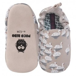 Poco Nido White Swans Mini Shoes