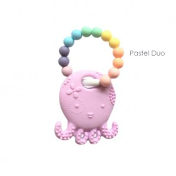 Teether Joy Pastel Duo Ring - Lilac Octopus