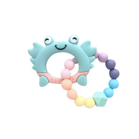Teether Joy Pastel Duo Ring (Green Crab)