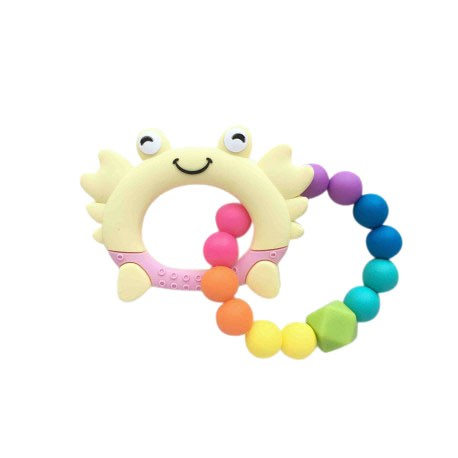 Teether Joy Vibrant Duo Ring (Yellow Crab)