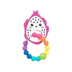 Teether Joy Vibrant Duot Ring (Dragonfruit)