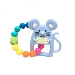Teether Joy Vibrant Duo Ring (Blue Mouse)