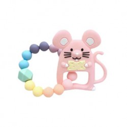 Teether Joy Pastel Duo Ring (Pink Mouse)