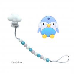Teether Joy Pearly Love (Blue Penguin)