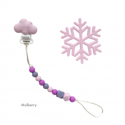 Teether Joy Mulberry (Lilac Snowflake)