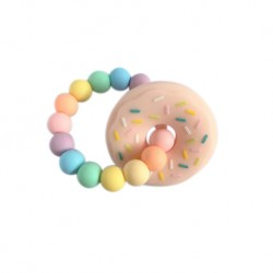 'Teether Joy Rainbow 12 - Pink Donut Ring'