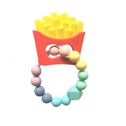 'Teether Joy Fries Teething Ring - Pastel'