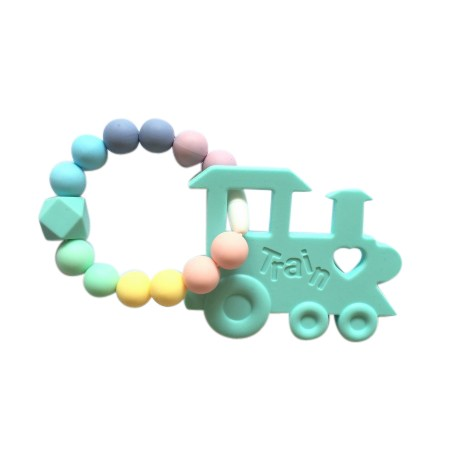 Teether Joy Pastel Duo Ring - Mint Train