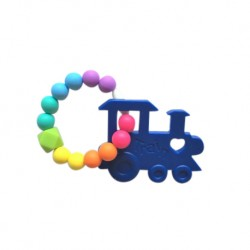 'Teether Joy Vibrant Duo Ring - Blue Train'