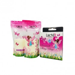 Lacte Breastmilk Bag with Thermal Sensor 6oz Enchanted Garden