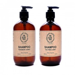 The Olive Tree Natural & Sulphate Free Shampoo Bundle (1 x Rosemary & Mint, 1 x Tea Tree & Mint)