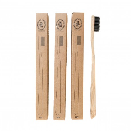 The Olive Tree 3pcs Bamboo Toothbrush Bundle