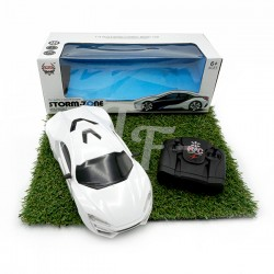 Four-Way Remote Control Sport Car With Light - White