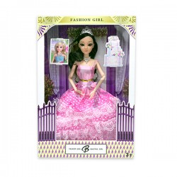 "Toys Funtastic 11"" Wedding Doll Dress Up Gown Gift Set - Pink"