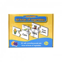 Toys Funtastic Educational Matching Puzzle Learning Vegetables (30 Sets)
